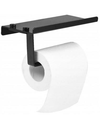 Uchwyt na Papier Toaletowy Black z Półką