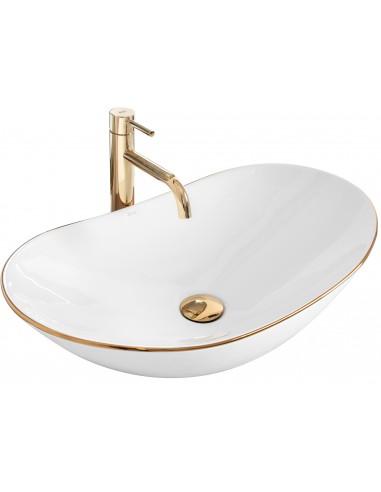 Umywalka Ceramiczna Royal 60 Gold Edge